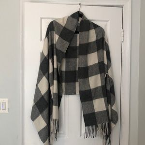 JCrew Wool Shawl with arm holes